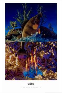 Ron English - 24 x 36 - Sea Monkeys