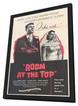 Room at the Top - 11 x 17 Movie Poster - Style A - in Deluxe Wood Frame