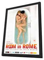 Room in Rome - 11 x 17 Movie Poster - Spanish Style A - in Deluxe Wood Frame