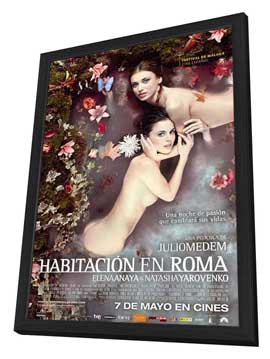 Room in Rome - 27 x 40 Movie Poster - Spanish Style A - in Deluxe Wood Frame