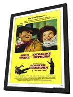 Rooster Cogburn - 11 x 17 Movie Poster - Style A - in Deluxe Wood Frame