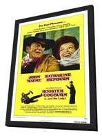 Rooster Cogburn - 27 x 40 Movie Poster - Style A - in Deluxe Wood Frame