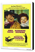 Rooster Cogburn - 27 x 40 Movie Poster - Style A - Museum Wrapped Canvas