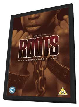 Roots - 11 x 17 Movie Poster - UK Style A - in Deluxe Wood Frame