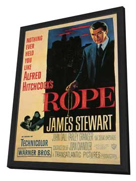 Rope - 11 x 17 Movie Poster - Style C - in Deluxe Wood Frame