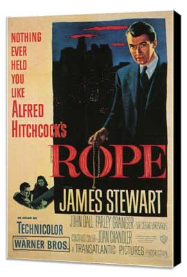 Rope - 11 x 17 Movie Poster - Style C - Museum Wrapped Canvas
