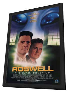 Roswell: The U.F.O. Cover-Up - 11 x 17 Movie Poster - Style A - in Deluxe Wood Frame