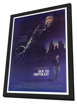 Round Midnight - 11 x 17 Movie Poster - Style A - in Deluxe Wood Frame