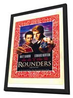 Rounders - 11 x 17 Movie Poster - Style C - in Deluxe Wood Frame