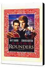 Rounders - 11 x 17 Movie Poster - Style C - Museum Wrapped Canvas