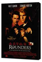 Rounders - 27 x 40 Movie Poster - Style B - Museum Wrapped Canvas
