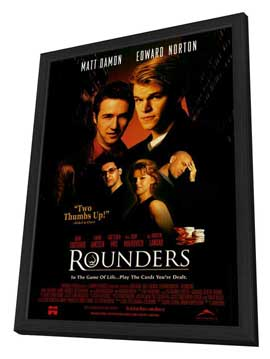 Rounders - 11 x 17 Movie Poster - Style B - in Deluxe Wood Frame