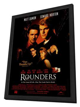 Rounders - 27 x 40 Movie Poster - Style B - in Deluxe Wood Frame