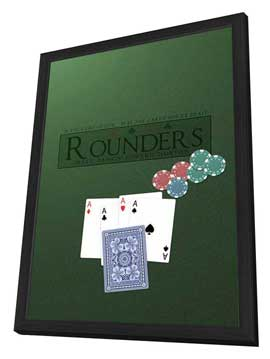 Rounders - 27 x 40 Movie Poster - Style D - in Deluxe Wood Frame