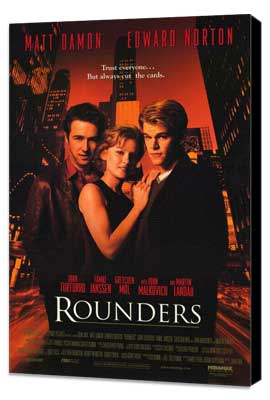Rounders - 27 x 40 Movie Poster - Style A - Museum Wrapped Canvas