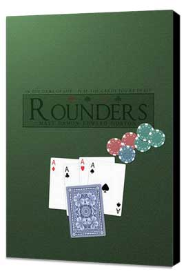 Rounders - 27 x 40 Movie Poster - Style D - Museum Wrapped Canvas