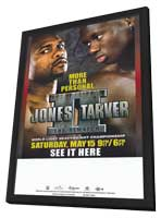 Roy Jones Jr. vs Antonio Tarver: The Rematch - 11 x 17 Boxing Promo Poster - Style A - in Deluxe Wood Frame