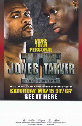 Roy Jones Jr. vs Antonio Tarver: The Rematch - 11 x 17 Boxing Promo Poster - Style A