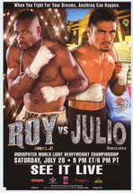 Roy Jones, Jr vs. Julio Gonzalez - 11 x 17 Boxing Promo Poster - Style A