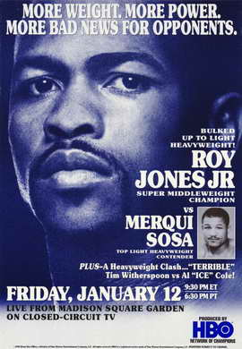 Roy Jones Jr. Vs Merqui Sosa - 11 x 17 Boxing Promo Poster - Style A