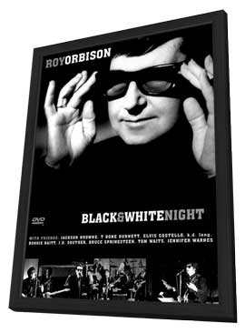 Roy Orbison and Friends: A Black and White Night - 27 x 40 Movie Poster - Style A - in Deluxe Wood Frame