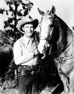Roy Rogers Collection - Roy Rogers posed in Portrait with Cowboy Outfit and Horse