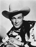 Roy Rogers Collection - Roy Rogers posed in Cowboy Outfit with a Straight Face