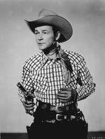 Roy Rogers Collection - Roy Rogers Posed in Checkered Shirt Holding a Gun