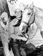 Roy Rogers Collection - Roy Rogers Posed in Cowboy Outfit with Horse