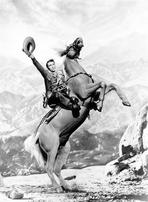 Roy Rogers Collection - Roy Rogers Tipping Off Cowboy Hat on a Rearing Horse