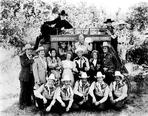 Roy Rogers Collection - Roy Rogers posed with Group of People in Black and White
