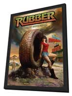 Rubber - 27 x 40 Movie Poster - Style A - in Deluxe Wood Frame