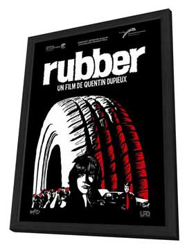 Rubber - 11 x 17 Movie Poster - French Style A - in Deluxe Wood Frame