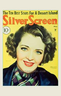 Ruby Keeler - 27 x 40 Movie Poster - Silver Screen Magazine Cover 1930's Style A
