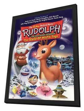 Rudolph the Red-Nosed Reindeer & the Island of Misfit Toys - 27 x 40 Movie Poster - Style A - in Deluxe Wood Frame