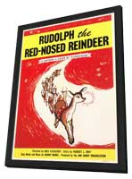 Rudolph The Red Nosed Reindeer - 27 x 40 Movie Poster - Style A - in Deluxe Wood Frame