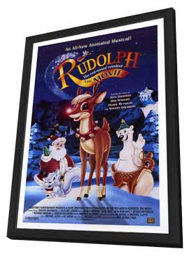 Rudolph the Red-Nosed Reindeer: The Movie - 11 x 17 Movie Poster - Style A - in Deluxe Wood Frame