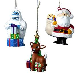 Rudolph the Red-Nosed Reindeer: The Movie - Rudolph the Red Nosed Reindeer Blow Mold Ornaments Set
