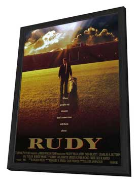 Rudy - 11 x 17 Movie Poster - Style A - in Deluxe Wood Frame