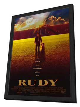 Rudy - 27 x 40 Movie Poster - Style A - in Deluxe Wood Frame