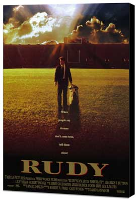 Rudy - 27 x 40 Movie Poster - Style A - Museum Wrapped Canvas