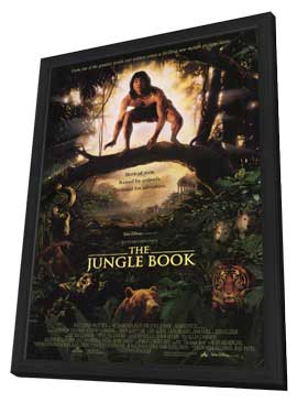 Rudyard Kipling's The Jungle Book - 11 x 17 Movie Poster - Style B - in Deluxe Wood Frame