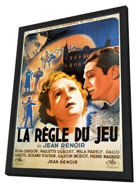 The Rules of the Game - 11 x 17 Movie Poster - French Style B - in Deluxe Wood Frame