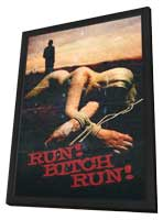 Run! Bitch Run! - 11 x 17 Movie Poster - Style A - in Deluxe Wood Frame