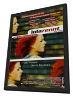 Run Lola Run - 11 x 17 Movie Poster - German Style C - in Deluxe Wood Frame