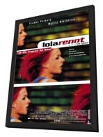Run Lola Run - 27 x 40 Movie Poster - German Style A - in Deluxe Wood Frame