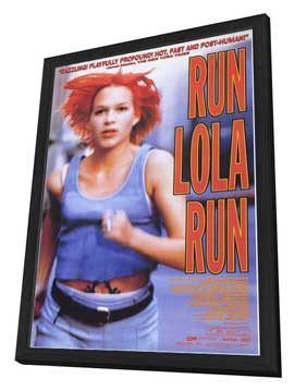 Run Lola Run - 27 x 40 Movie Poster - Style A - in Deluxe Wood Frame