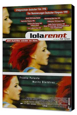 Run Lola Run - 11 x 17 Movie Poster - German Style C - Museum Wrapped Canvas
