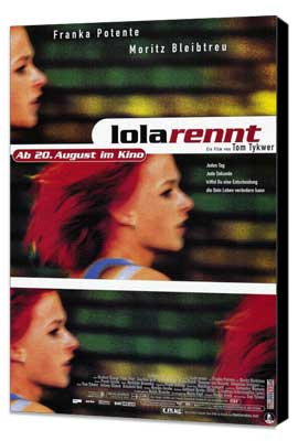Run Lola Run - 27 x 40 Movie Poster - German Style A - Museum Wrapped Canvas