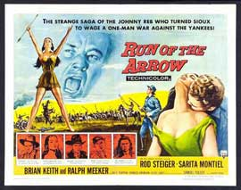 Run of the Arrow - 22 x 28 Movie Poster - Half Sheet Style A